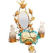 1860 Palais Royal Paris Dressing Table Accessory Jewellery Stand with Mirror Trinket Bowl and Scent Bottles