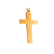 1939 Vintage 9 Karat Gold Cross Jewellery Pendant 1 1/4 X  3/4 of an inch