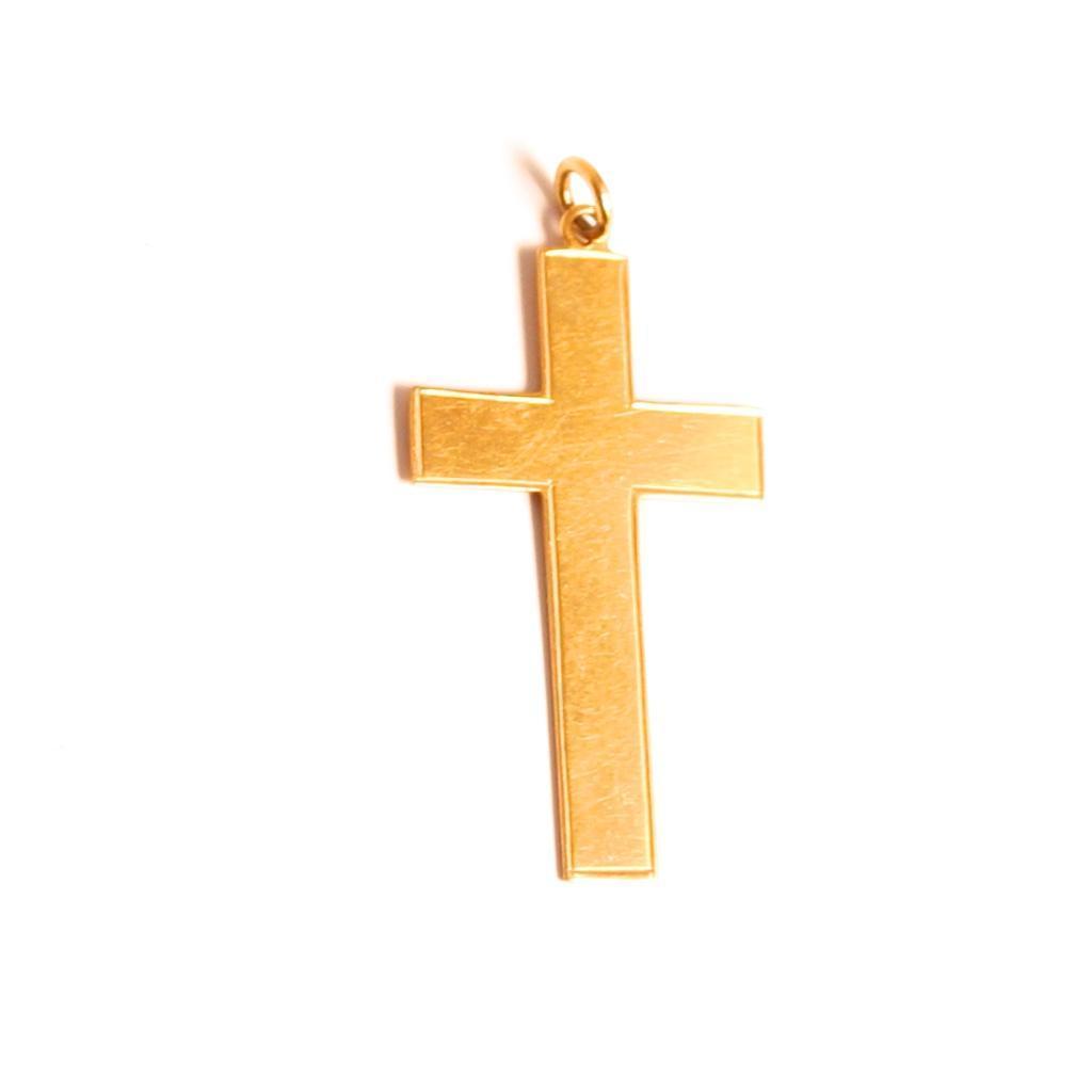 1939 Vintage 9 Karat Gold Cross Jewellery Pendant  S817