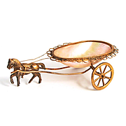 Palais Royal 1860 Horse and Trinket Bowl Cart for Jewellery and Dressing Table Decoration S817