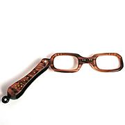 Art Deco Bakelite Lorgnette Eye Glasses