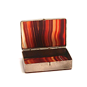 1880 Scottish Agate Pill or Snuff Box 2 inches by 1 1/2