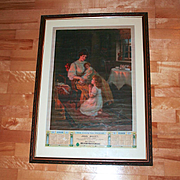 1912 Wales Advertising Print Poster entitled The Evening Prayer for Tower Tea