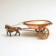 Palais Royal 1860 Horse and Trinket Bowl Cart for Jewellery or sewing Display