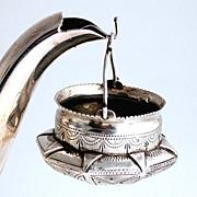 Russian Silver 1899 Tea Strainer First Kokoshnik Mark Kostroma City