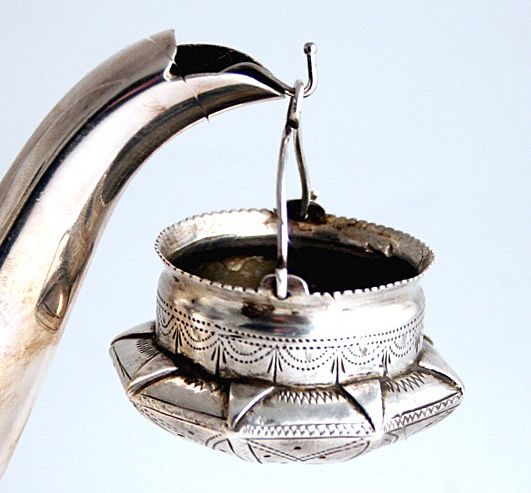 Russian Silver 1899 Tea Strainer First Kokoshnik Mark Kostroma City
