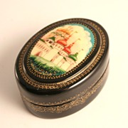 Russian Lacquer Box Kholui Village Trinket Rings Jewelry S817