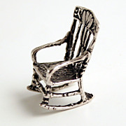 1890 Austrian Silver Hallmarked Miniature Rocking Chair