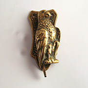A Victorian Door Knocker Parrot Brass