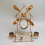 Palais Royal Paris Watch Jewellery and Scent Bottle Stand Windmill with Bevelled Mirror Ormolu S817