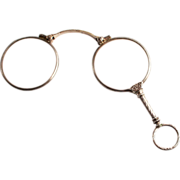A Beautiful French Silver Lorgnette Pendant Eye Wear Glasses Spectacles