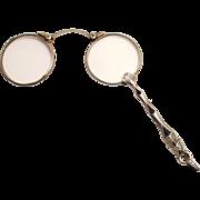 Antique Enamel Lorgnette French Eye Wear Glasses 1900