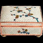 1900 Japanese Enamel Apple Tree Blossom Jewellery Box S817