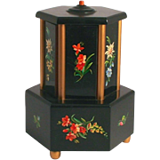 Austrian 1930 Art Deco Carousel Hexagonal Music Box