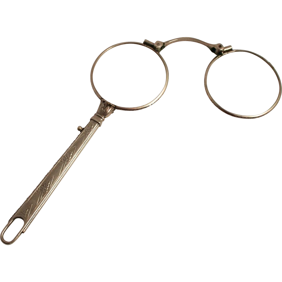 1910 lorgnette silver plated spectacles or eye