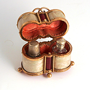 Palais Royal French Fashion Doll Accessory Thimble and Scent Bottle Etui 1860 Stock Ref S817