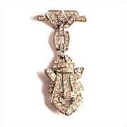 Vintage Art Deco Brooch and Pin Unusual Dual purpose Paste Jewellery