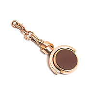 A Vintage Gold Plated Birthstone Bloodstone and Jasper Pendant Fob with Love Knot S817