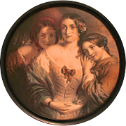 Victorian Color Print of the Bronte Sisters Writers Literary Picture