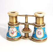 1860 Duchesse of Paris Sevres Enamel Blue Opera Glasses