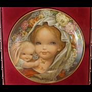 Schmid Porcelain Plate, by Juan Ferrandiz, Mother and Child, Germany
