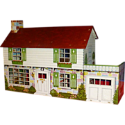 1950's Vintage Disney Doll House Toy, by Marx Toys, Tin Lithograph