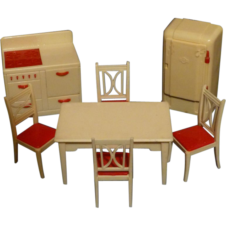 Renwal Doll House Furniture Kitchen Set 1940 39 S Plastic Toys Sold On Ruby Lane