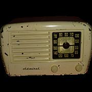 1947 Art Deco Style, Admiral Super Cornucopia Radio, Standard Broadcast AM, Chicago Illinois