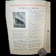 Steamship Leviathan, 1927, Souvenir Log, Admiral Byrd, Charles Lindbergh, Cruise, France to NY