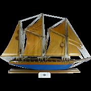 Vintage Maine State Jail Prisoner Ship, Hand Crafted, Sailing Sloop