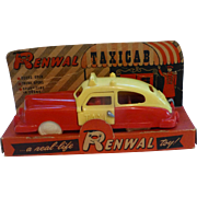Renwal Taxicab, Original Box, 1950's, Flawless Rare Version #91, Toy Plastic Car, New York