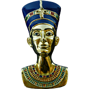 Nefertiti, Bradford Plate, The Eternal Beauty, Egypt Splendors of the World Collection, 22 kt Gold Paint