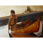 BIG 3' Framed Ken Schmidt Signed Watercolor Print, Dawn's Early Light, Lone Star Studio, Limited Edition