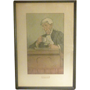 "Vanity Fair ""Spy"" Litho, Vintage 1900, England, from Leslie Ward Watercolor, Judge Gainsford Bruce"