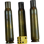 Militaria, Brass Shell Casings, 20MM, Inert and Empty, Spent Primers