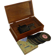1940's Thorens D30 Automatic Disc Music Box, Switzerland, All Original Excellent Condition, Seven Discs