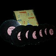 Thorens Music Discs, 1940's - 50's, Switzerland, Seven Discs for D30 Music Box, Excellent Condition