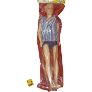 1960's Doll, Ken - Like, Hong Kong China, Barbie Era, Movable Arms & Legs, New In Package, Hand Painted