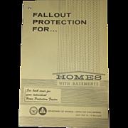 1967, USA Civil Defense, Nuclear Fallout Shelter Plans, Homeowner Cellars, Lyndon Johnson, Cuban Missile Crisis, Historical Ephemera