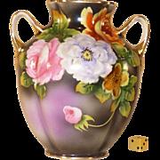 Vintage Noritake Vase, Hand Painted, 1921 - 1939, Morimura, Porcelain