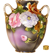 Noritake Vase, Hand Painted, 1921 - 1939, Porcelain Morimura