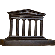 Vfintage Doorstop, 1920's, The Parthenon Temple in Greece on Acropolis, Doric Architecture