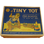 1950's Tiny Tot Toys, Original Box, Exceptional Condition, Display Piece, New York, Jaymar Specialty Co.