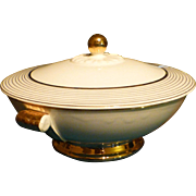 Vintage, ' Taylor Smith & Taylor ' China Bowl, 22 Kt. gold Accents, Immaculate, Flawless Condition, Chester West Virgina, Marked