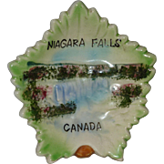 1950's Niagara Falls Souvenir Dish, Ontario Canada, New York, Lefton China, Hand Painted Fine China