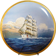 "1936 German Sailing Ship, Now the US Coast Guard Cutter ""Eagle"", Hamilton Limited Edition Plate, Gold Leaf"