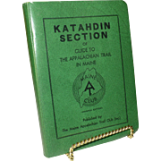 1969 Appalachian Trail Guide, Katahdin Section, Maine, Original Immaculate Condition, Hiking, Backpacking