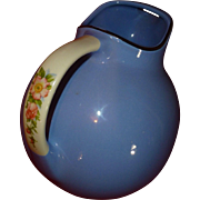 Classic Hall Kitchenware China, Ball Pitcher Jug #633, Royal Rose Cadet Blue, FLAWLESS.