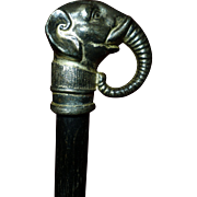 Antique Political Cane, GOP Elephant, 1800's, Unique Patina,  Republican, Conservative, Wonderful Condition, Walking Stick