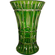 Vintage Vase, Crystal Cut to Clear Art Deco, Leaded Glass, Stunning!